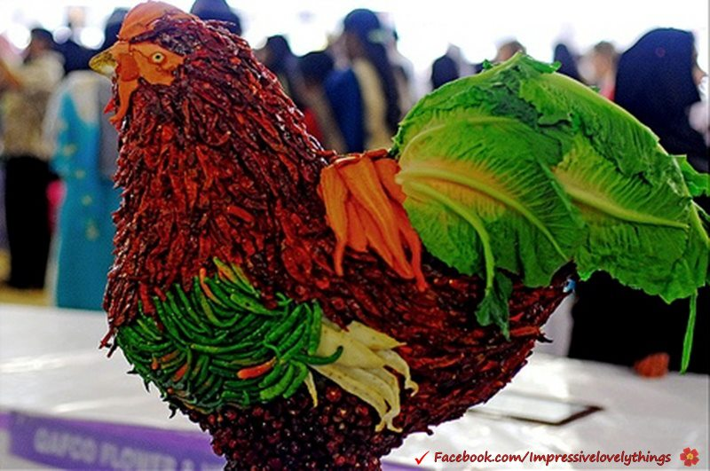 Creative art chilli chicken most beautiful for Beautiful creative art