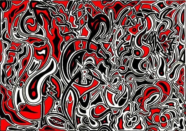 Dessins Fantastiques Serpents+rouges+et+noirs+2