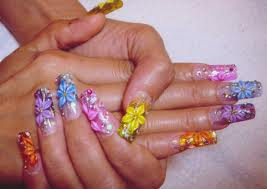 nail art on extended nails