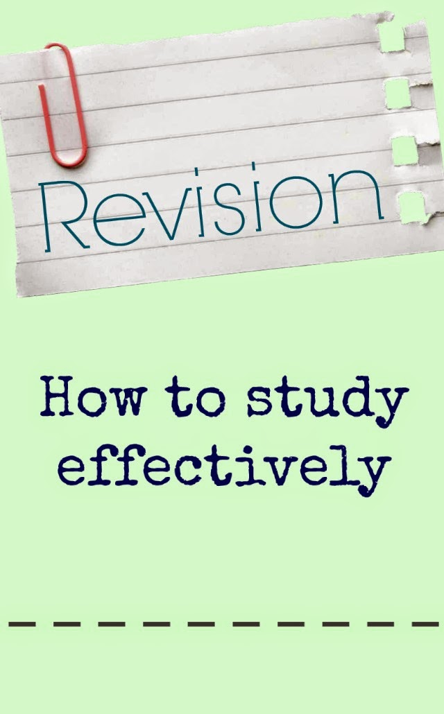 Revision - How to study effectively
