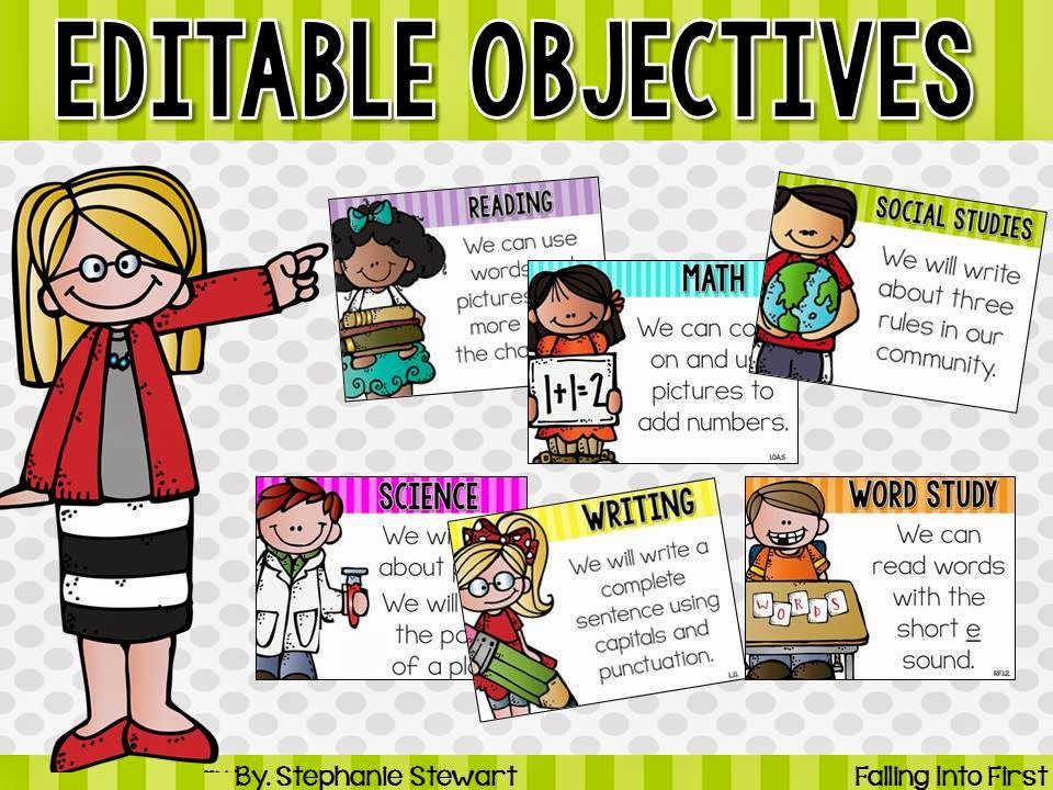 http://www.teacherspayteachers.com/Product/Objectives-Editable-1442064