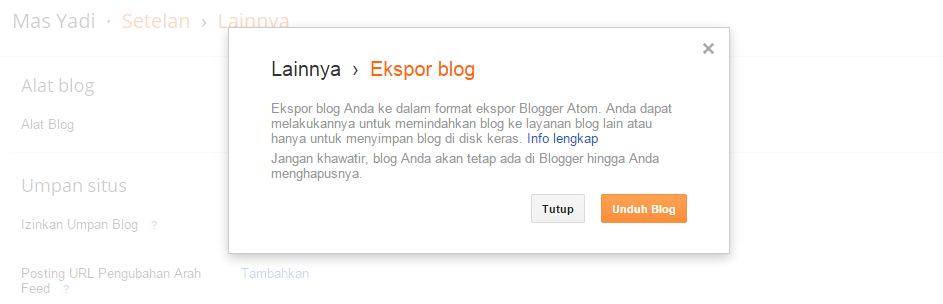 Cara Mudah Back Up Data Postigan Blog Terbaru