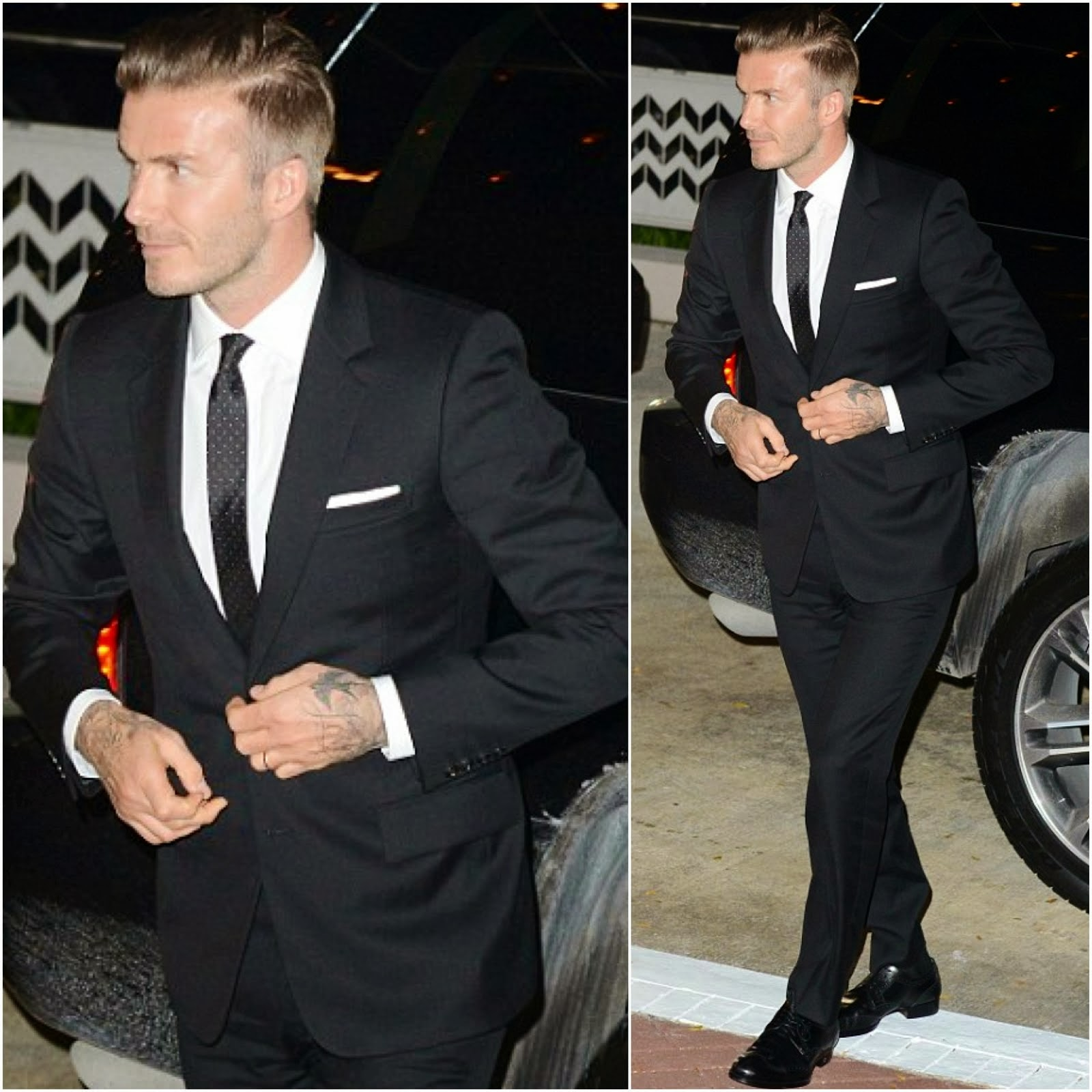 David Beckham in Ralph Lauren - Out and about in Miami