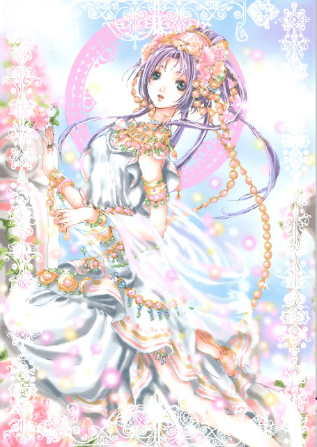 anime fancy,white dress, Tukiji Nao