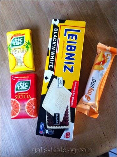 Tic Tac Sommerfeeling, Leibniz Choco Black´n White, Myline Riegel
