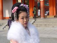 日本髪を結っていた