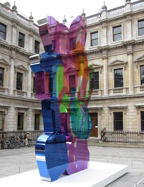 Coloring Book, by Jeff Koons. Claims to be bronze. In the courtyard of the Royal Academy of Arts, London. 5 June 2011.