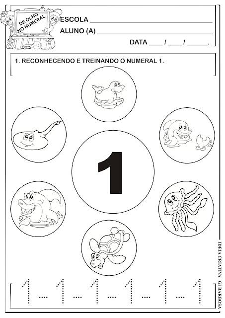 Atividade Numeral 1 - Animais Marinhos