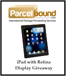 Parcelbound Sponsored Giveaway – iPad 16GB with Retina Display – 6/20 to 7/11