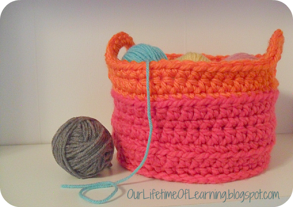 Chunky Crochet Basket
