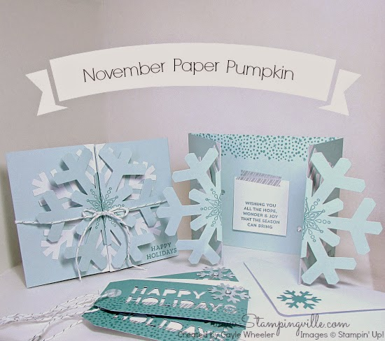 Stampin' Up! November Paper Pumpkin Kit Cards & Tags | Stampingville #paperpumpkin #StampinUp #papercrafts