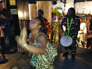 african dancing at the national geographic store