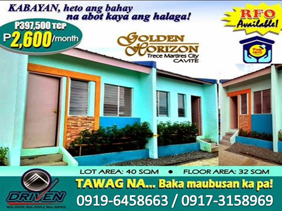 PAGIBIG Rent To Own House And Lot Trece Martires Affordable Homes In Cavite  Ready For Occupancy