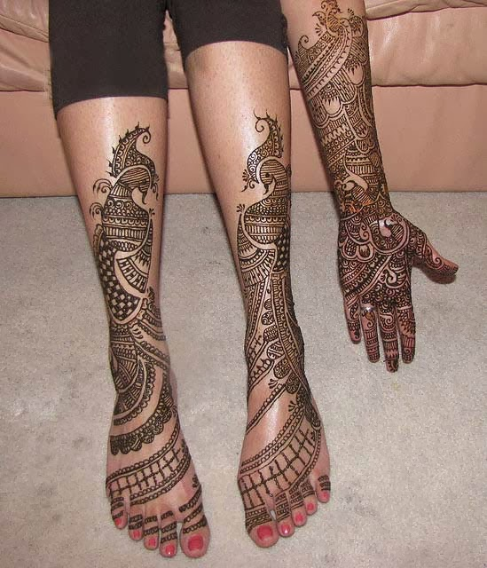 Mehndi Leg Designs : Beautiful latest simple arabic pakistani indian bridal