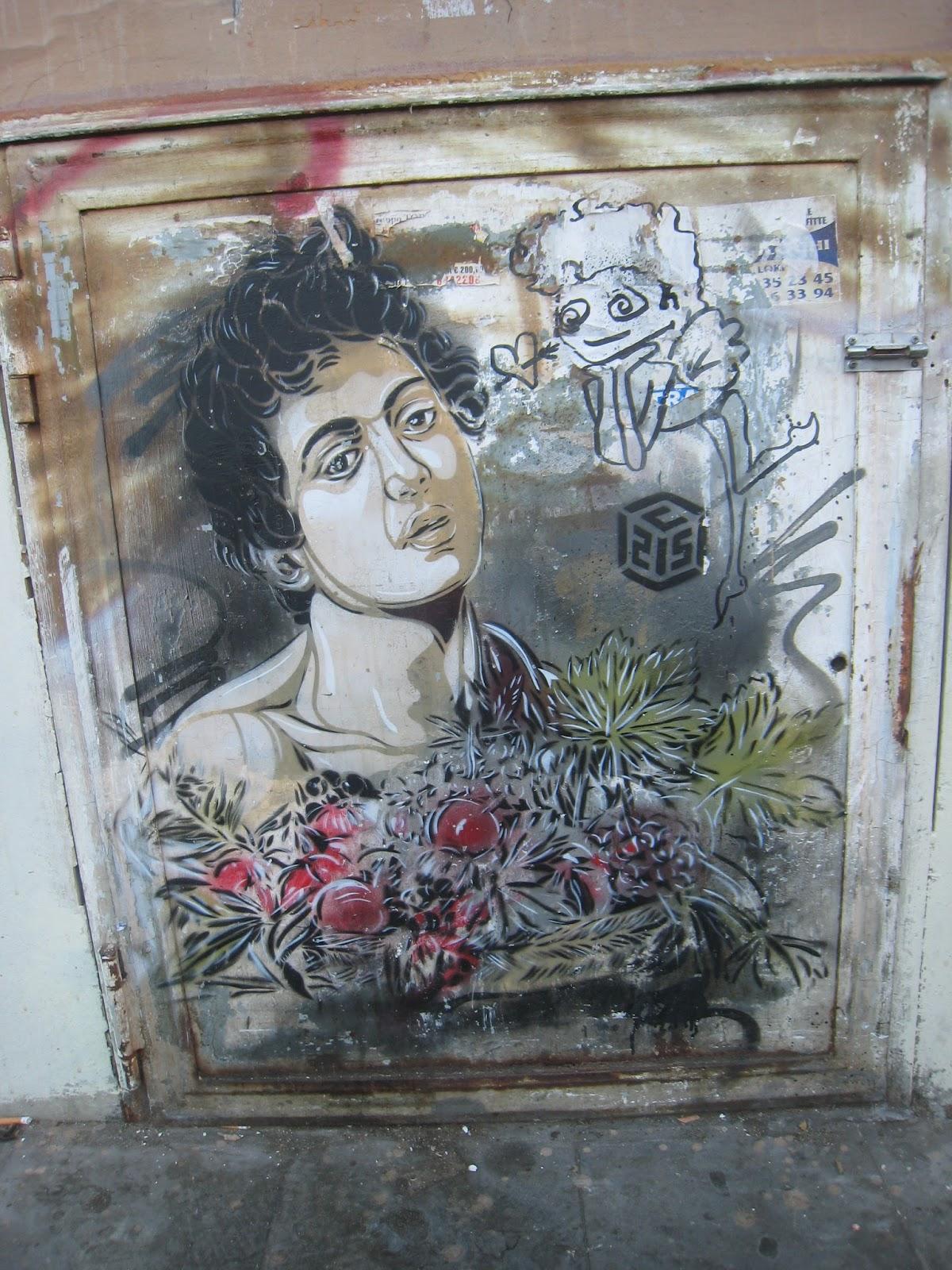 C215 street art caravaggio in rome