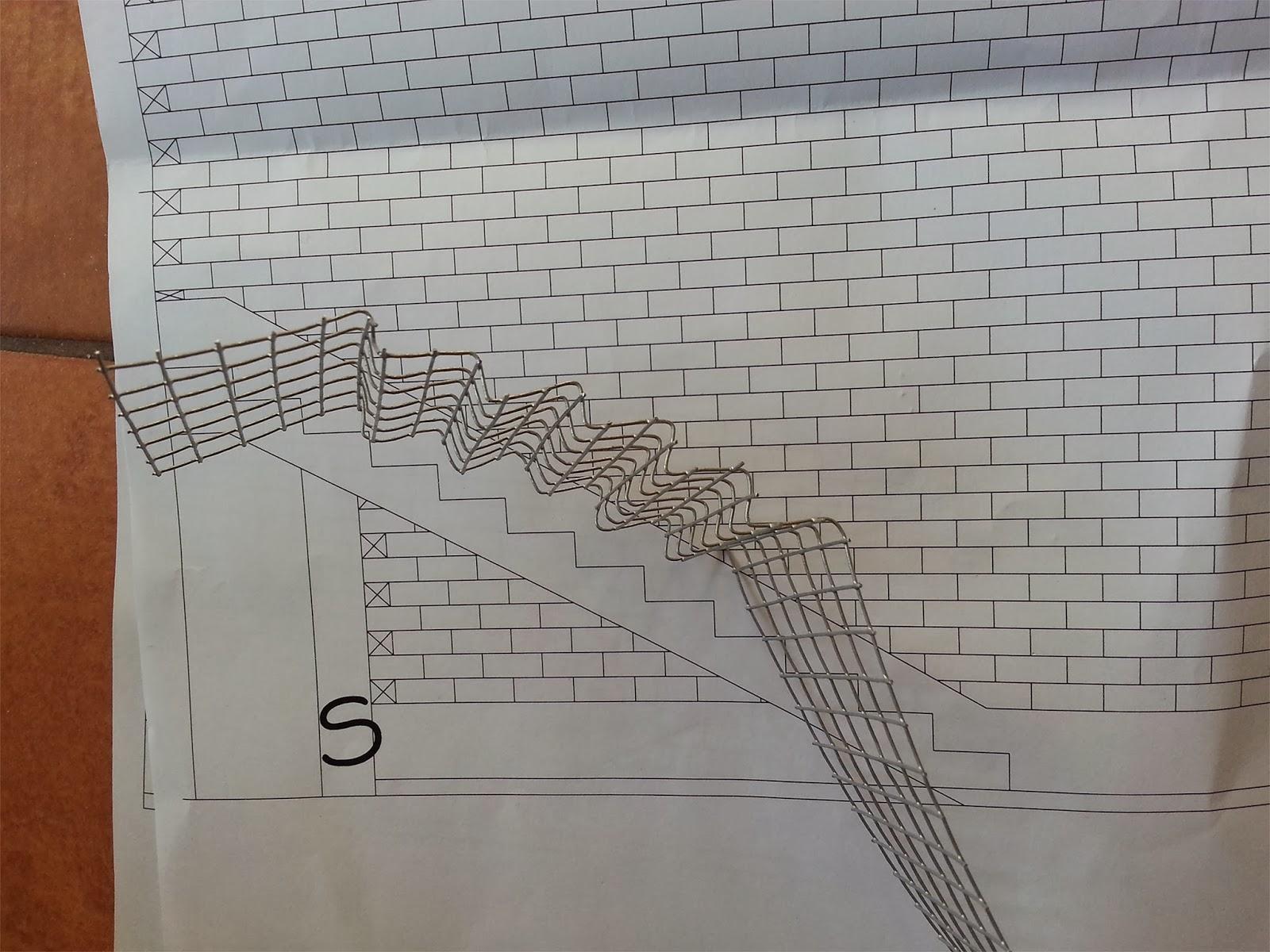 Bifamiliare in scala 1:25: 05   struttura in c.a. della scala.