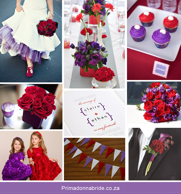 Your Wedding Support: GET THE LOOK: Red and Purple Themed ...