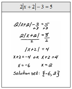 What is a solution set?