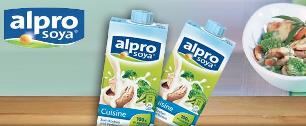Konsumrausch werde 1 von 1000 testerinnen und entdecke for Alpro soya cuisine