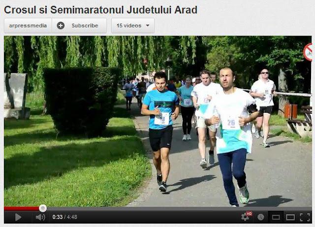 Chindea. Maseur oficial la Maratonul, Semimaratonul şi Crosul Aradului. 6 iunie 2015. Video