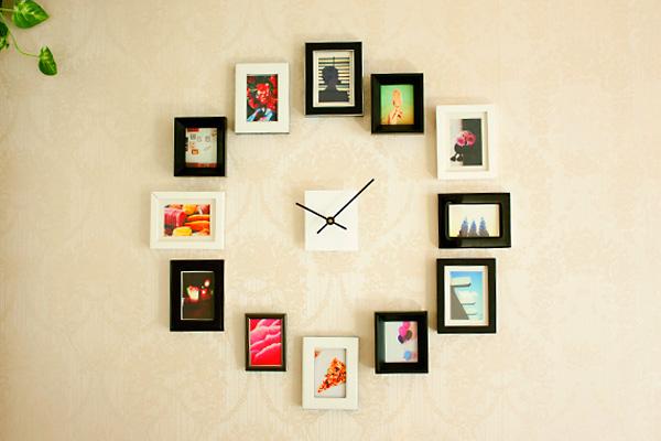 I d e a como hacer relojes de pared - Wall picture clock decoration ...