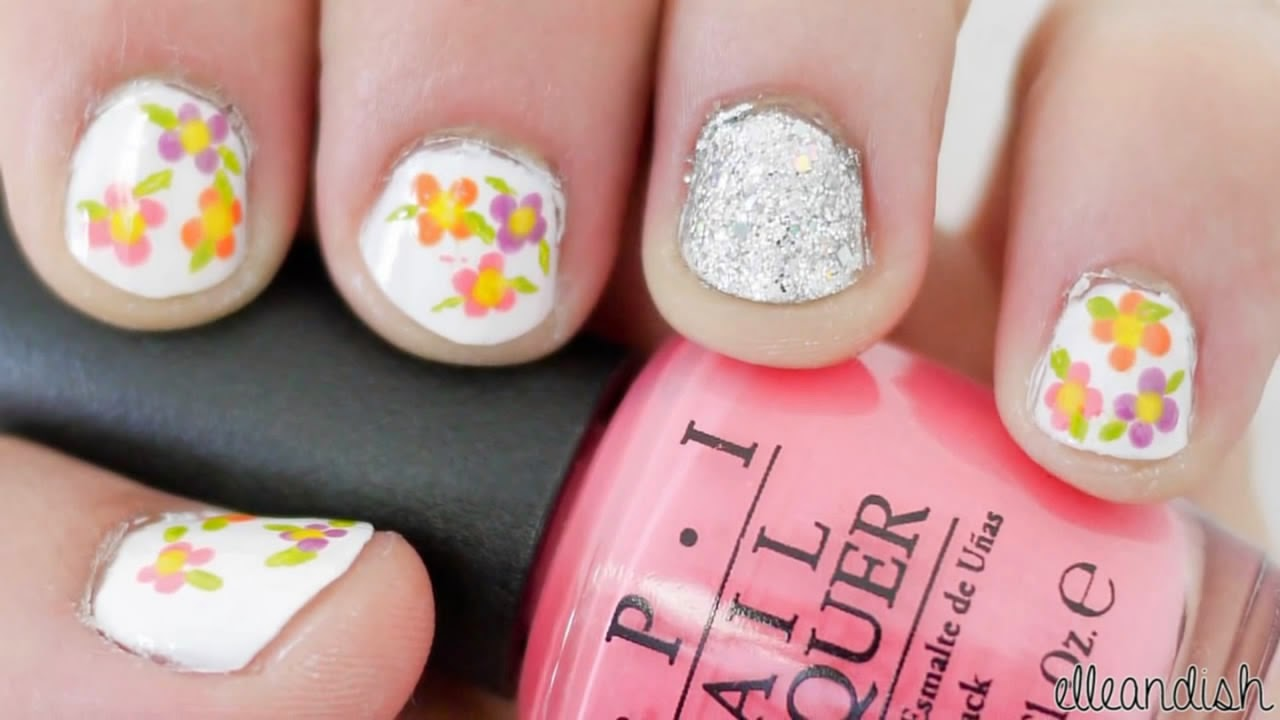 easy simple spring nails
