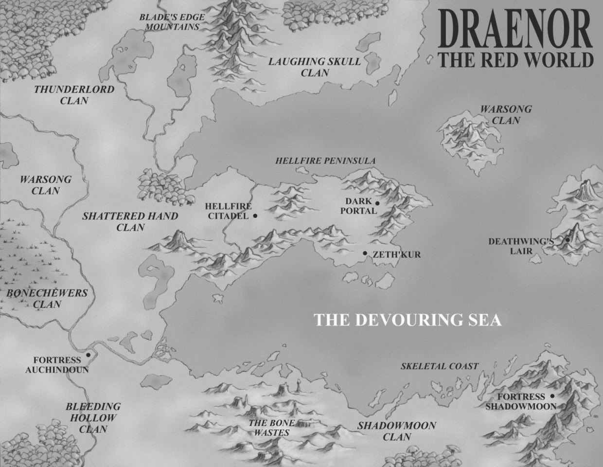 World Of Warcraft Map Draenor