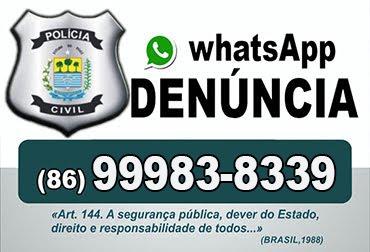 WhatsApp Denúncia em Cocal e Cocal dos Alves