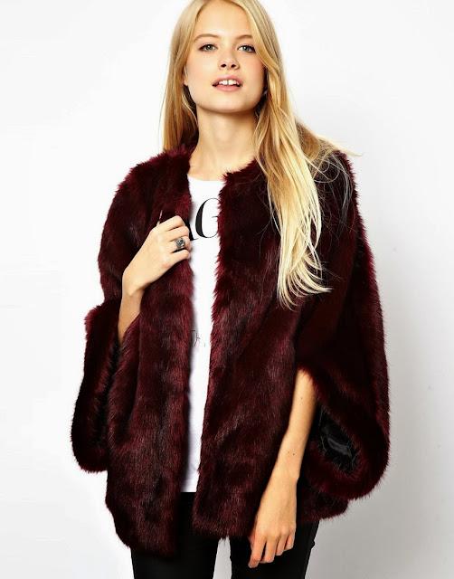 red fur coat