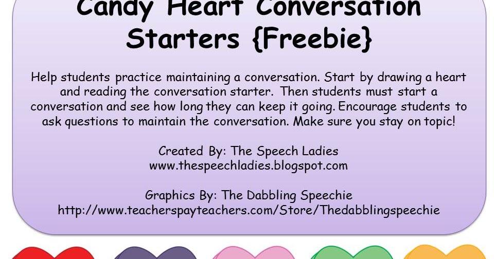 Conversation Hearts FREEBIE!