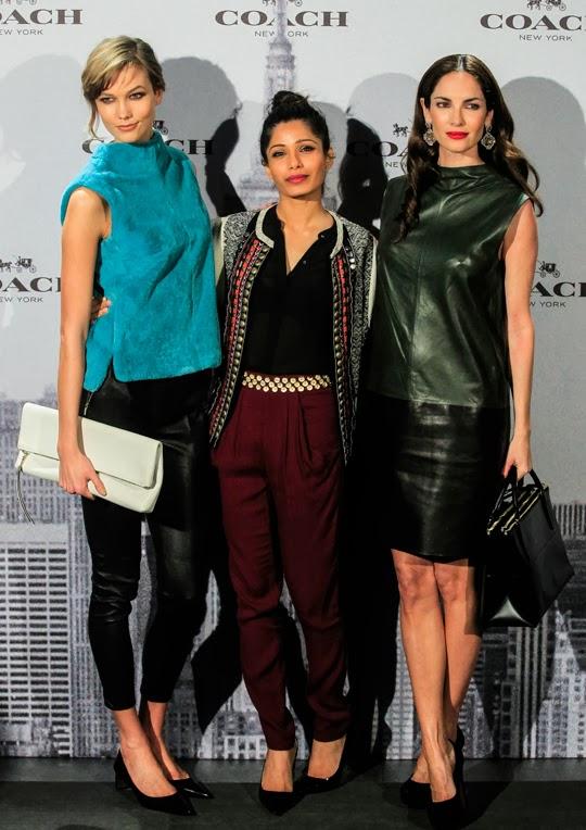Karlie Kloss, Freida Pinto y Eugenia Silva en la nueva flagship store de Coach