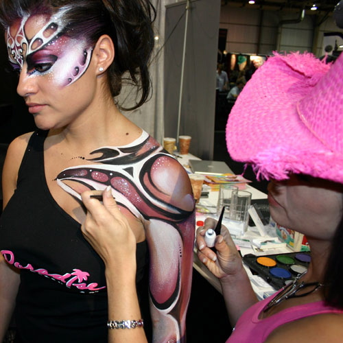 Face painting nude