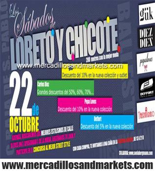 Mercadillos and markets los s bado de loreto y chicote for Calle loreto prado y enrique chicote