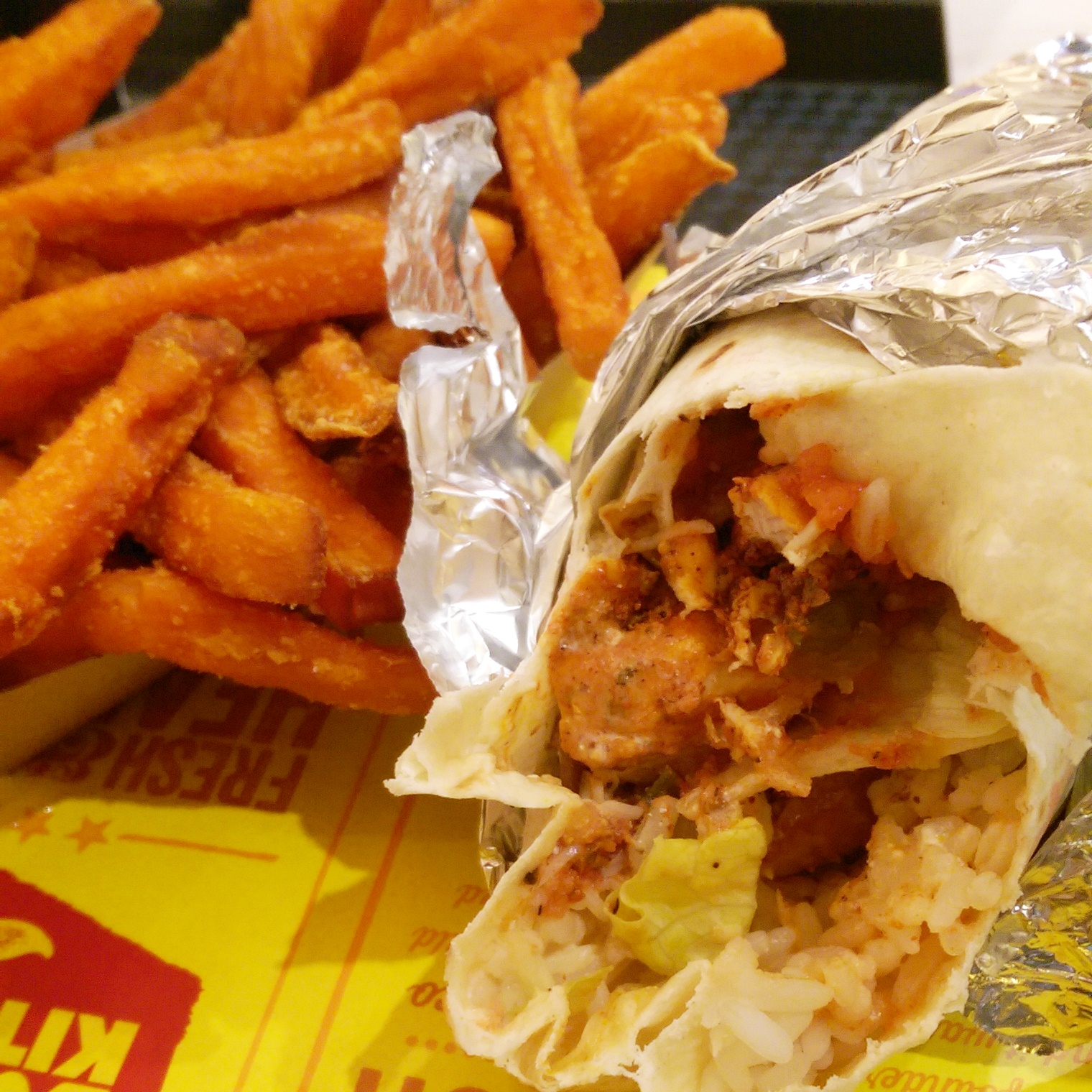 UK food blog review of burrito kitchen in merryhill shopping centre.