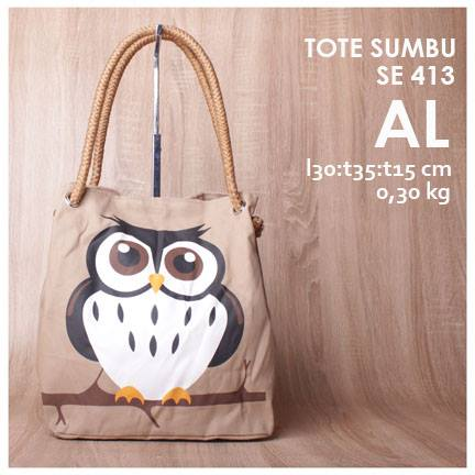 jual online tote sumbu lucu murah owl