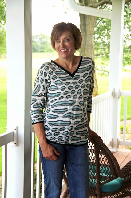 Seamwork Aberdeen shirt from Mood Fabrics' sweater knit