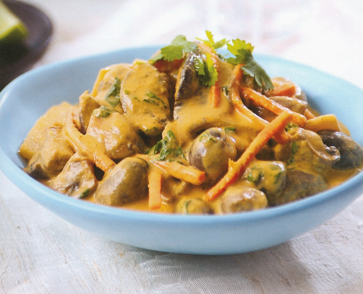 Receta afrodisiaca de Curry tai de hongos