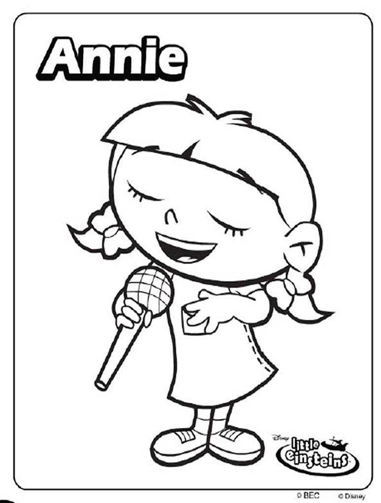 Little einsteins coloring pages free - Little Einsteins Coloring Pages Little Einsteins Coloring Pages