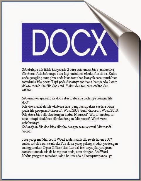 2 Cara Membuka File docx