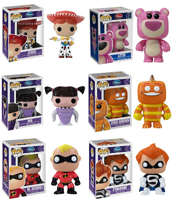 Disney Pop! Vinyl Figures Wave 2 - Jessie, Lotso, Boo, George Sanderson, Mr. Incredible &amp; Syndrome