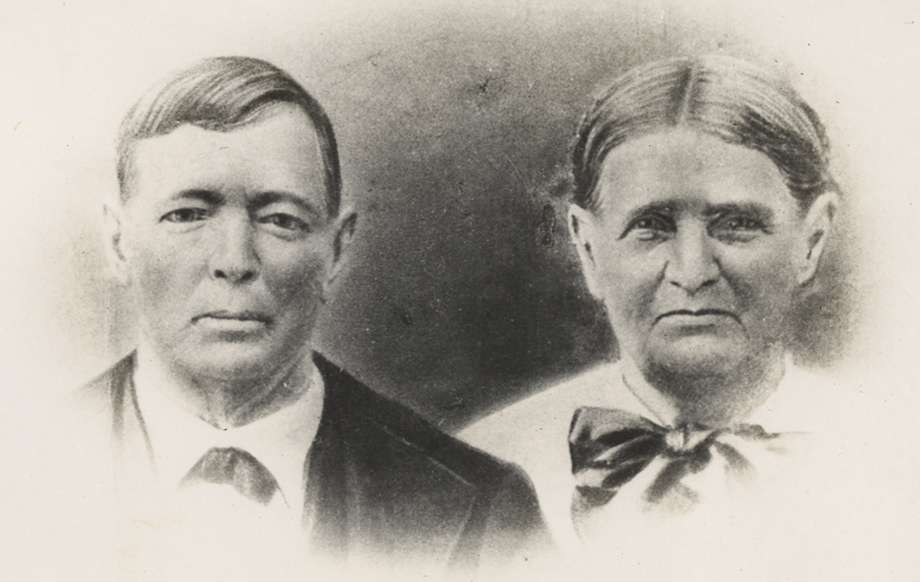 Edward Archibald & Roselender (Barber) McDonald, photo taken 1880s in Port Orange, FL