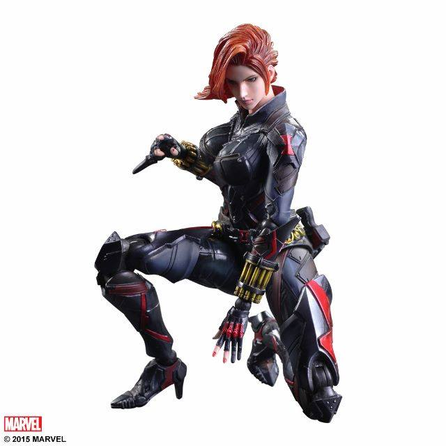 Action Figure Play Arts Kai Black Widow Variant