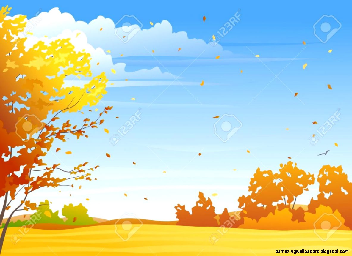 5525 Autumn Scene Stock Vector Illustration And Royalty Free