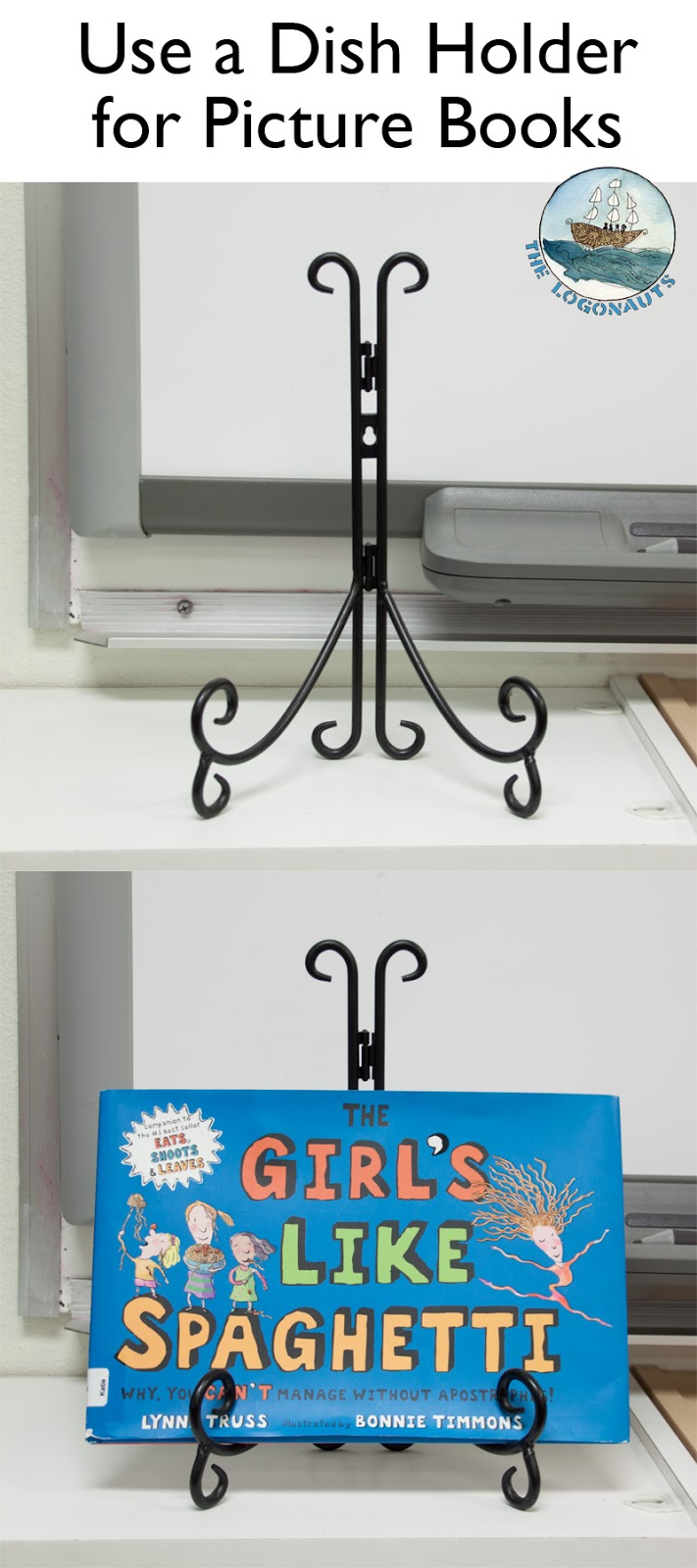 Use a Dish Holder for Picture Books - Organizing a Classroom Library | The Logonauts