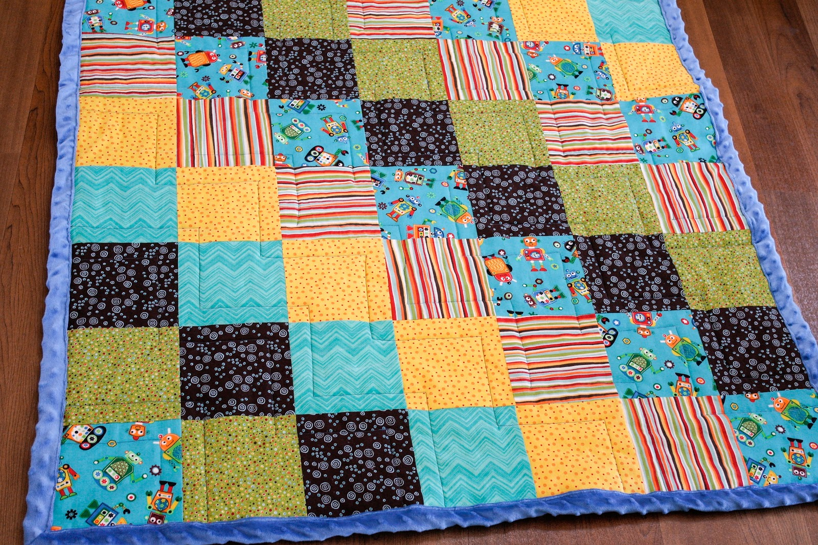 The Berry Bunch: Robot Baby Quilt : baby quilt size - Adamdwight.com