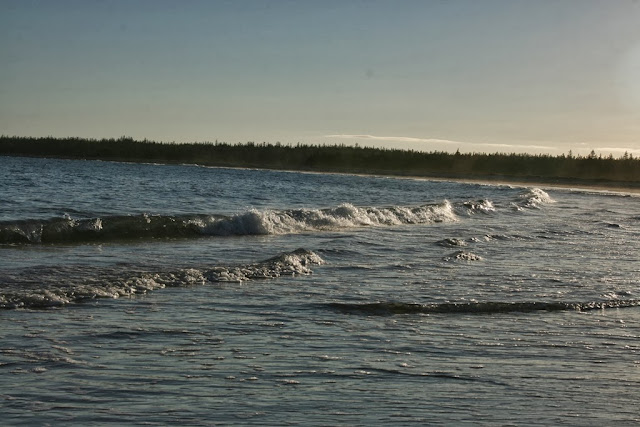 Nova Scotia Beach,  waves