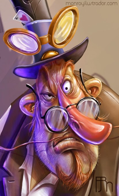 Cartoon STEAMPUNK (Face detail)