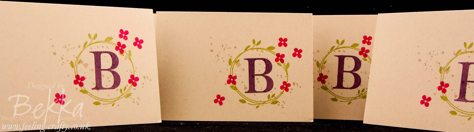 Make Your Own Monogram Note Cards Using Stampin' Up! UK Stamps.  Get them here