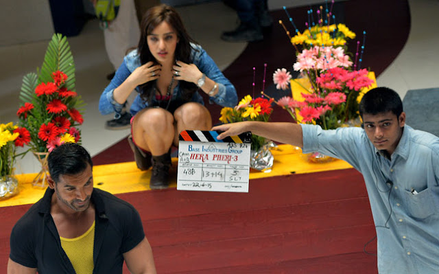 John Abraham, Neha Sharma From the set of Hera Pheri 3