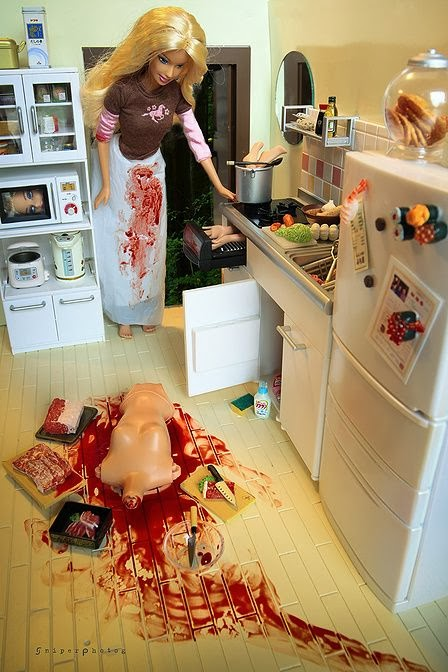 Funny cannibal barbie joke image